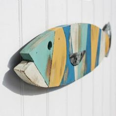Patchwork Wooden Fish | Fish Wall Hanging