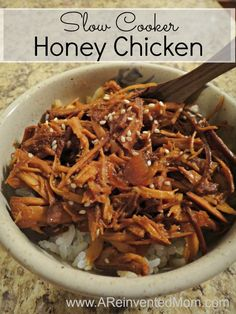 Slow Cooker Honey Chicken | A Reinvented Mom