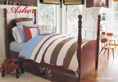 boy bedding (chase..add sports or train to it..)