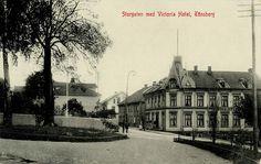 Tønsberg i Vestfold Storgaten med Victoria Hotel utg Narvesen