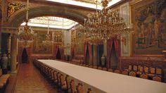 Comedor de Gala, que en el S. XVIII sería el Cuarto de la Reina María Amalia de Sajonia.