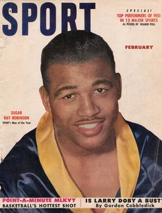 Sugar Ray Robinson Sport February 1952 Boxing Cover Magazine