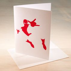 Spider-Man Hand Screen Printed Card by ChrisVoellerArt on Etsy