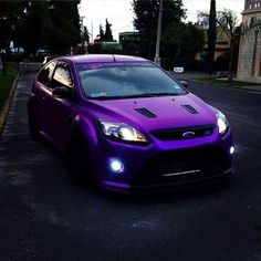 Ford Rs, Ford Focus, Cars And Motorcycles, Cool Cars, Dream Cars, Mustang, Body Kits, Shiva, Purple