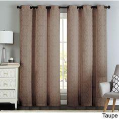 Artistic Lawrence Grommet Textured Geometric Jacquard Curtain Panel Pair (7