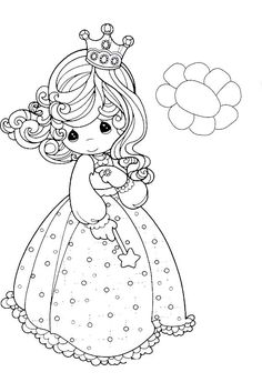 Precious Moments Coloring Pictures - Precious Moments cartoon coloring pages