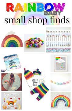 Rainbow Baby small shop finds!! Perfect handmade items for your little one! #worththewait #Rainbow #rainbowbaby