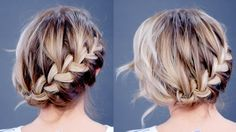 Hairstyle Of The Day: Simple Diagonal French Braid Updo | Milabu - YouTube