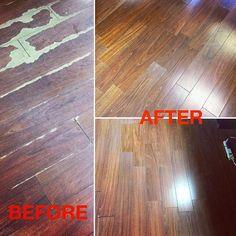 Repaired floor in #WaldorfMD #floors #indoorprojects #beforeandafter #repairs #mrhandyman3908