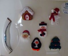 Imanes navideños para la nevera