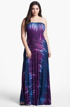 Plus Size Maxi Dresses 2014. Not sure if I like it...