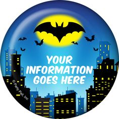 Check out Bat Personalized Button (Each) - Discount Personalized Accessories and…