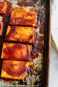 This simple recipe for Pineapple BBQ Tofu does not require a grill, but the use of your broiler. It is a great dish that can be made year round. Grilled Tofu Recipes, Firm Tofu Recipes, Silken Tofu Recipes, Vegetarian Grilling, Vegetarian Recipes, Healthy Recipes, Healthy Food, Easy Dinner Recipes, Easy Meals