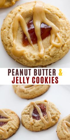 Peanut Butter and Jelly (PB & J) Cookies Recipe! I went nuts over these Peanut Butter and Jelly Cookies. They are a perfect balance of soft peanut butter cookies, a dab of jam, and an amazing but simple peanut butter frosting. They are YUM-O and I don't care who knows it.