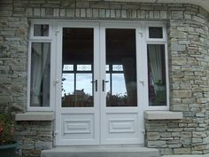 White PVC French doors