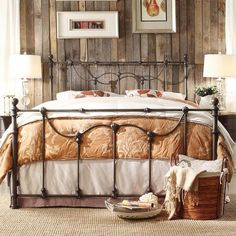 Tribecca Home Bellwood Victorian Iron Metal Bed ($484) ❤ liked on Polyvore featuring home, furniture, beds, black, twin bed, black queen headboard, metal twin bed, queen metal beds and queen bed