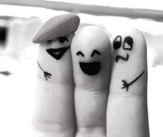 Friends... if we were fingers we'd be on one hand together!!! J = ring finger, K= index finger, L= middle finger