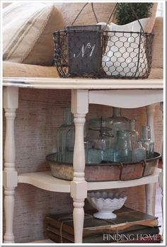FindingHomeFamilyRoomVintageDisplay thumb 7 Steps For Organizing Your Home – Without Getting Overwhelmed