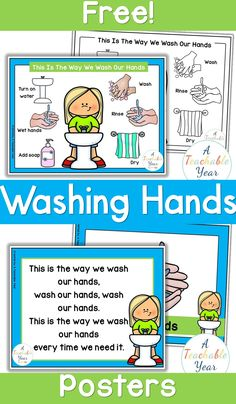 Handwashing Posters {Free} - A Teachable Year First Grade Classroom, Special Education Classroom, Kindergarten Classroom, Kindergarten Posters, Classroom Ideas, Kindergarten Worksheets, Future Classroom, Kids Education, Beginning Of The School Year