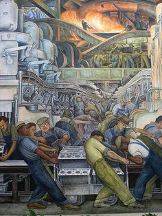 Diego Rivera Auto assembly line