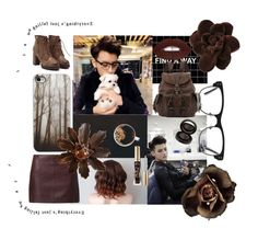 """""""You Had Me At """"Coffee"""""""" by bulletproof-girl-scout ❤ liked on Polyvore featuring Naf Naf, Frye, Chanel, GlassesUSA, Too Faced Cosmetics and Anastasia Beverly Hills"""