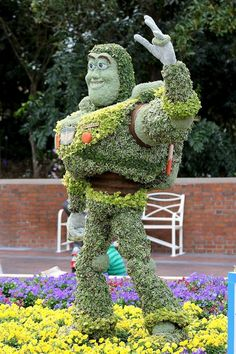International Flower and Garden Festival - Buzz Lightyear Topiary in the American Adventure Pavilion