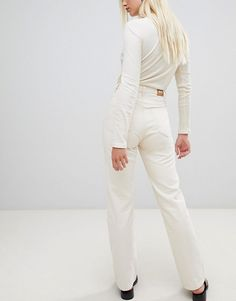 Weekday Row mom jeans with organic cotton in off white Asos Online Shopping, Online Shopping Clothes, Latest Fashion Clothes, Fashion Online, Weekday Jeans, White Denim, The Row, Off White, Organic Cotton