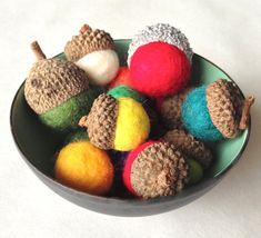 Learn how to felt acorns yourself. / 30 Cute And Clever Ways To Decorate For Thanksgiving