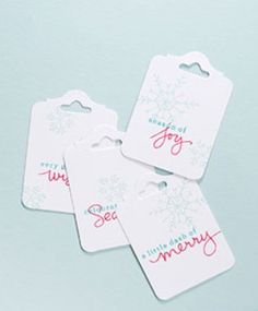 Endless Wishes Gift Tags Look at this sweet snowflake stamp set   Stampin Up! Endless Wishes Stamp Set