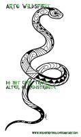 Maori Tribal Snake Tattoo by WildSpiritWolf