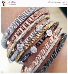 pulseiras diamantadas mimame cris vallias Lindas pulseiras italianas diamantadas na Mima Me!
