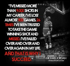 Inspirational advice from Michael Jordan. #athlete #basketball #inspiration #quote #michaeljordan