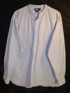 Mens Ralph Lauren XL Button Up Down Dress Shirt Long Sleeve Cotton Light Purple