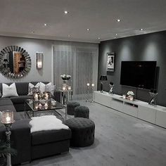 small living room designs are offered on our site. Have a look and you wont be sorry you did. Living Room Ideas Light Grey Sofa, Living Room Decor Cozy, Living Room Grey, Interior Design Living Room, Home And Living, Small Living, Cozy Living, Living Room Goals, Grey Loving Room Ideas