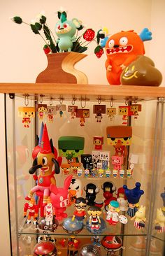 Inspiration on displaying key chains in curio