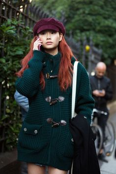 Model Street Style, Models Off Duty, Korean Model, Facon, Daily Fashion, Red Hair, Korean Fashion, Beautiful People, Casual Outfits