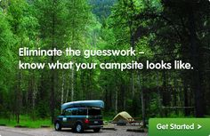 Great site to see photos of each campsite in campgrounds throughout the USA