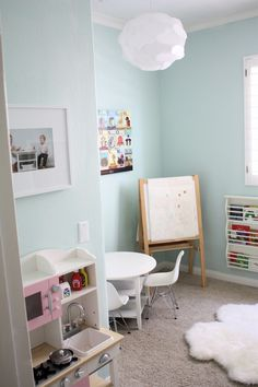 #mint #playroom ideas #lovely time  Great ideas here. Definitely a possibility
