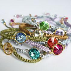 Geflochtene Armbänder mit SWAROVSKI Elements von Perlotte Schmuck  ** Bracelets with SWAROVSKI Elements | Perlotte Schmuck