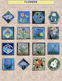*Stepping stones, concrete with stained glass.  I have 4 with spring flowering bulbs in the hexagon shape.  They have moved at least 4 times with me  and have held up in the ground through 9 Ohio winters.  A favorite in my garden.
