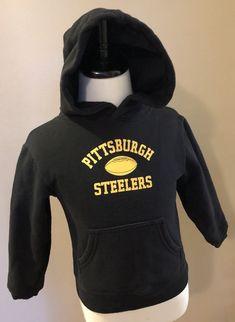 98d901dc2 Pittsburgh Steelers Size 4 Hoodie Sweatshirt Black NFL Girl Boy Unisex   Reebok  PittsburghSteelers