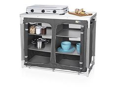 Campart Travel Outdoor Kitchen Madrid - Well designed outdoor kitchen with six storage compartments 4 adjustable legs, stable on uneven surfaces Strong aluminium frame Camping Grill, Camping And Hiking, Backpacking Gear, Hiking Gear, Camping Gear, Camping Hacks, Madrid, Extra Storage, Bag Storage