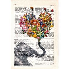 @Abbi Togtman Do you think if I bought this and framed this it would be a good belated wedding gift for Dana & Kevin? She LOVES elephants and I like the design and it's one of a kind...