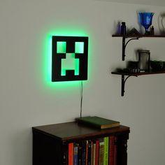 Minecraft Creeper Lamp Lighted Minecraft Logo Sign & by LuxChroma