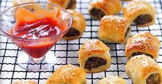 Serve up a plate of these tasty sausage rolls at the next footy match. Pork Stir Fry, Tasty, Yummy Food, Sausage Rolls, Freezer Cooking, Appetisers, Breakfast Dishes, Recipe Of The Day, Tray Bakes