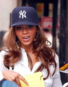 love pink yankees hat | beyonce # yankees # new york yankees