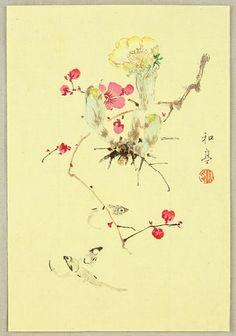 Katei Taki 1830-1901 - Fish and Flowers