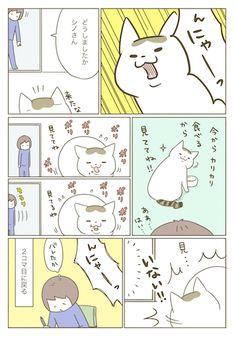 猫の呼びだし | うちの猫がまた変なことしてる。【猫まんが】