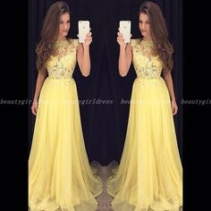 Charming beading top gray tulle prom dressformal gorgeous cheap yellow chiffon prom dresselegant prom dresscharming prom dresslong evening dressappliques prom dress fandeluxe Gallery