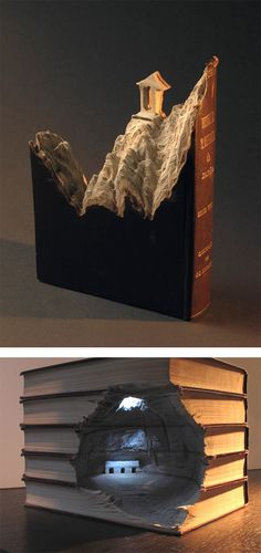 Landscapes Carved Into Books by Guy Laramee | Inspiration Grid | Design Inspiration